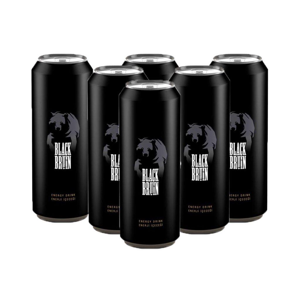 نوشیدنی انرژی زا بلک برن اصلی 500 میلی لیتر پک 6 عددی Black bruin