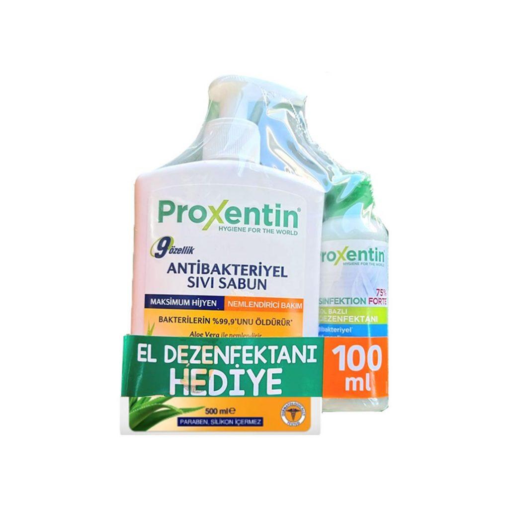 پکیج مایع دستشویی پروکسینتین به همراه ژل ضد عفونی کننده دست Bioxcin
