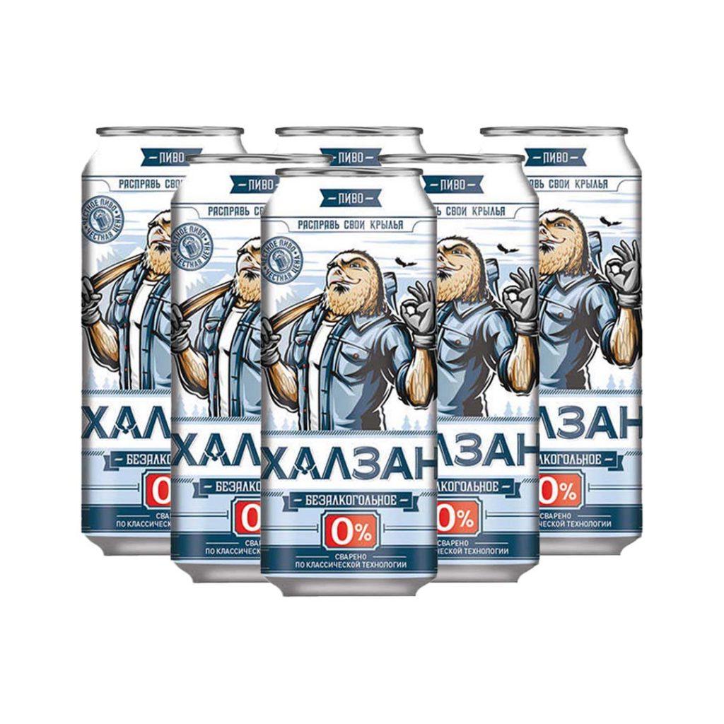 نوشیدنی ابجو روسی اصل 500 میلی پک 6 عددی Khalzan