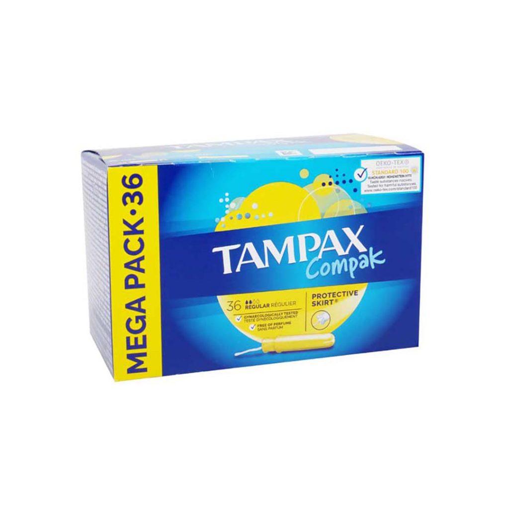 نوار بهداشتی تامپون تامپکس بسته 36 عددی Tampax Compak
