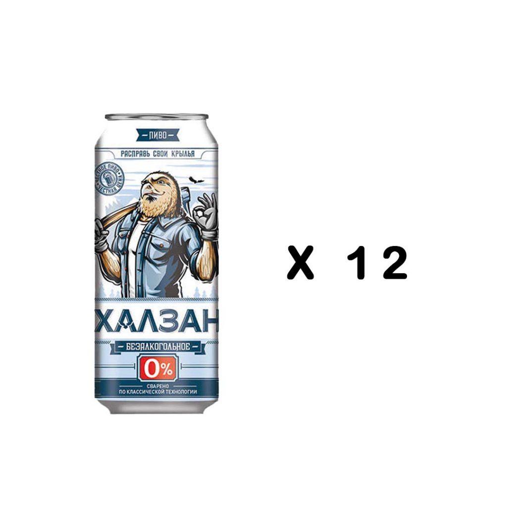 نوشیدنی ابجو روسی اصل 500 میلی پک 12 عددی Khalzan