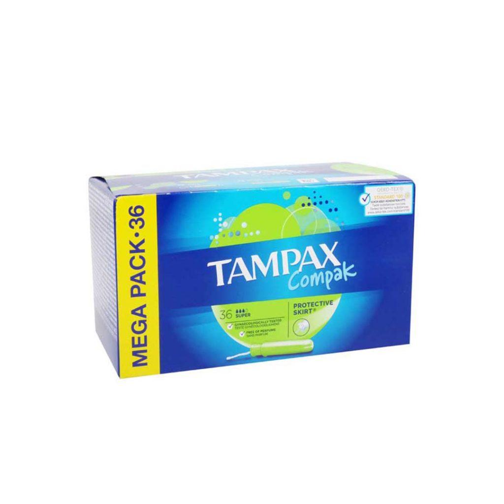 نوار بهداشتی تامپکس تامپون بسته 36 عددی Tampax Compak