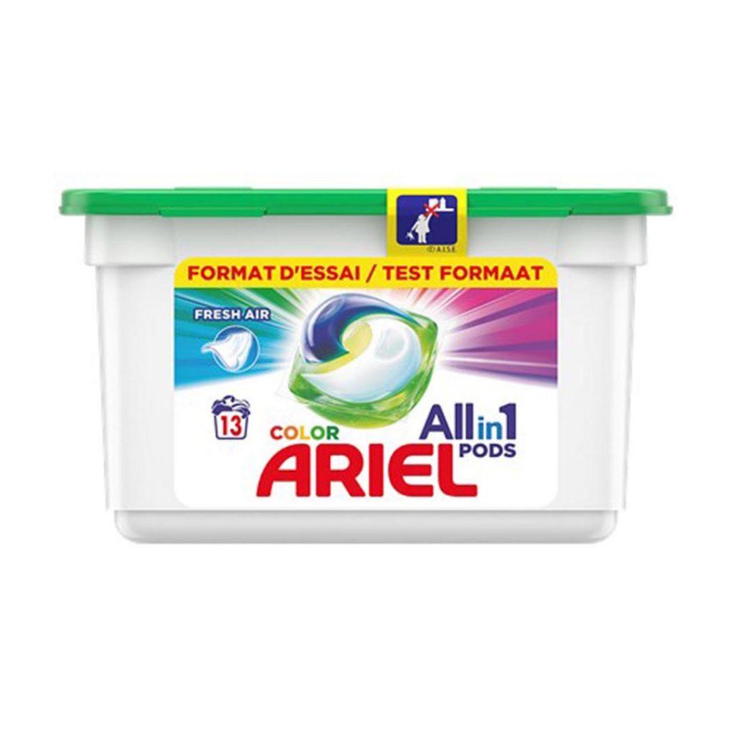 قرص ماشین ظرفشویی بسته 13 عددی رنگی آریل Ariel